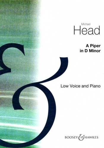 A  Piper In D Minor: Low Voice and Piano