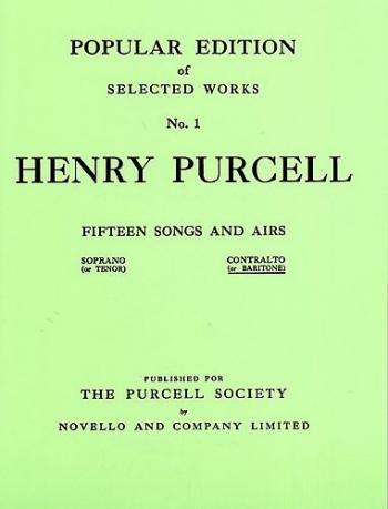 15 Songs: Vol1: Vocal: Contralto Or Baritone