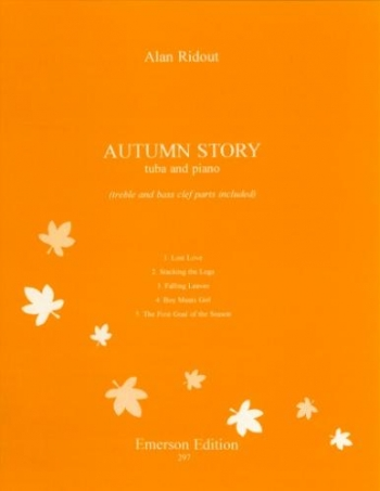 Autumn Story: Tuba: Treble Clef and Bass Clef: Tuba and Piano (Emerson)