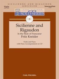 Sicilienne and Rigaudon: Violin