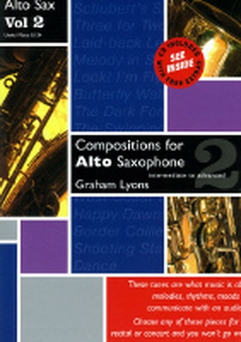 Compositions For Alto Saxophone: Vol.2 Book & CD (Lyons)