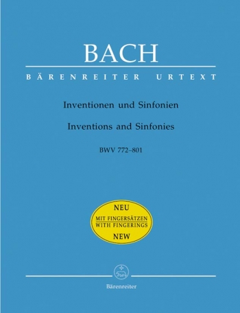 Inventions & Sinfonias: Bwv772-801: Piano (Barenreiter)