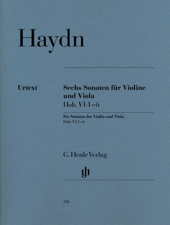 Sonatas For Violin And Viola : 6: Hobvi:1-6