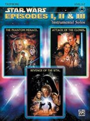 Star Wars Episodes: Selections From 1 2 And 3: Trombone: Book & CD