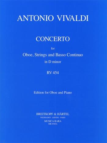 Concerto: D Minor: Rv454 Oboe & Piano (Musica Rara)