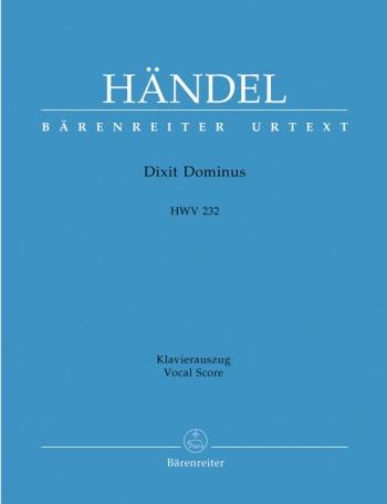 Dixit Dominus: HWV 232 Vocal Score (Barenreiter)