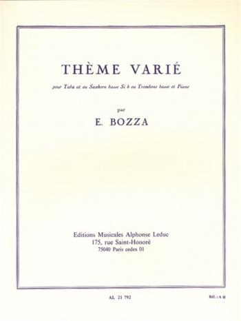 Theme Varie: Bass Trombone and Piano