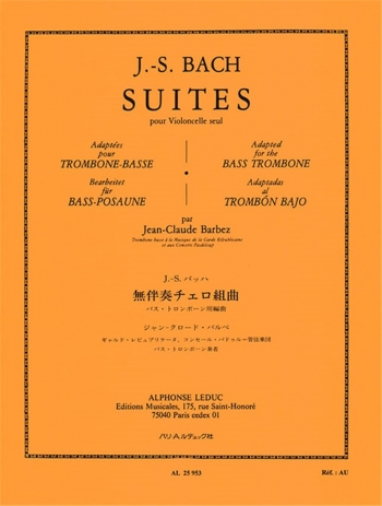 Suites For Solo Cello (Bass Trombone) (Barbez) (Leduc)