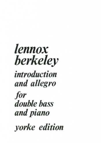 Introduction and Allegro: Op 80: Double Bass (Yorke)