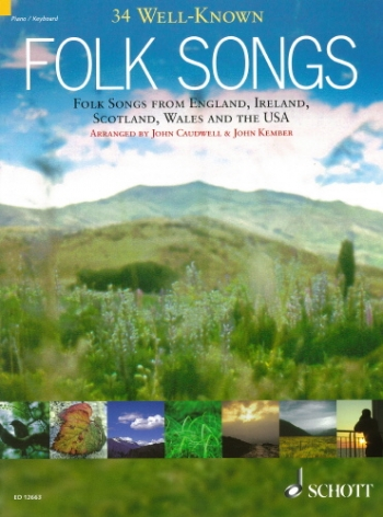 34 Well Known Folk Songs: Voice