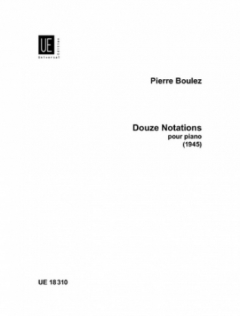 Douze Notations: Piano