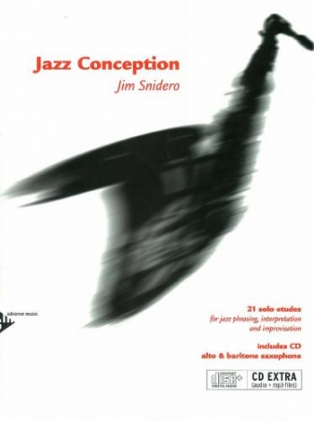 Jazz Conceptions: 21 Solo Etudes: Alto & Baritone Saxophone: Book & Cd (snidero) (Advance)