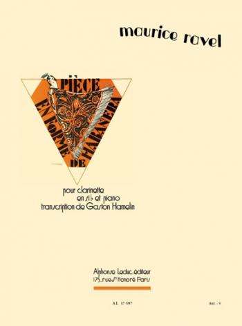 Piece En Forme De Habanera: Clarinet & Piano (Leduc)