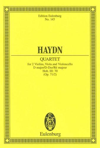 String Quartet: Dmajor: Op71 No 2: Miniature Score