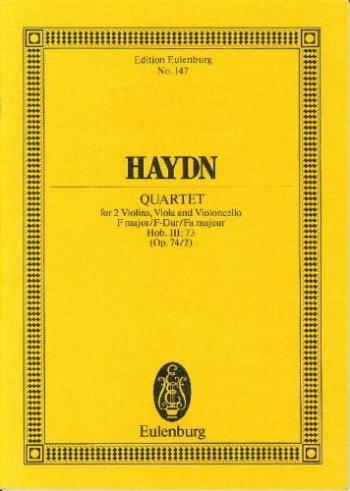 String Quartet: Fmajor: Op74 No 2: Miniature Score