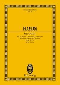 String Quartet No.3: Gminor: Op74: Miniature Score