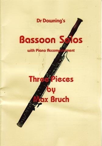 Three Pieces, Op.70: Bassoon & Piano