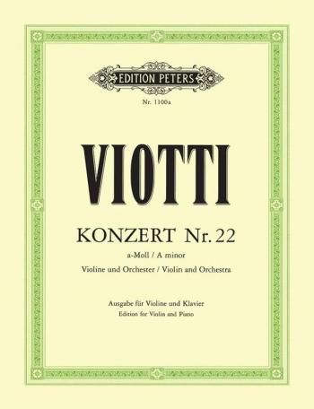 Concerto: A Minor: No22: Violin and Piano (Peters)