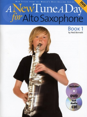 New Tune A Day Alto Sax Book 1: Book & Cd & Dvd (bennett)