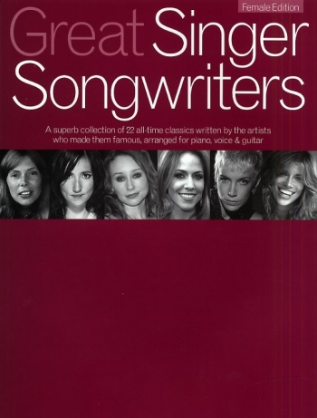 Great Singer Songwriters:  Female Singers: Piano Vocal Guitar