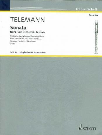 Sonata : D Minor: Treble Recorder and Piano