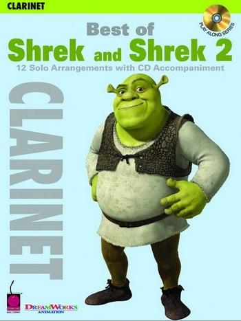 Shrek  and Shrek 2: 12 Arrangements: Clarinet: Book & CD