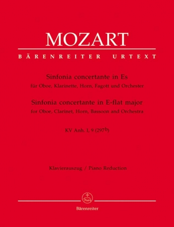 Sinfonia Concertante: eb Maj-ob:  Clar: Bassoon: Horn and Piano