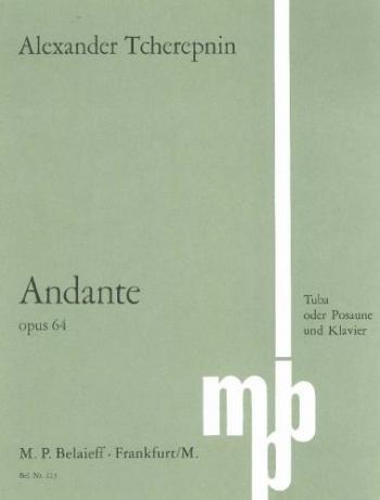 Andante: Tuba Or Bass Trombone (Belaieff)