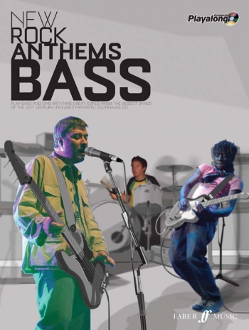 Authentic Playalong: New Rock Anthems: Bass Guitar: Book & CD