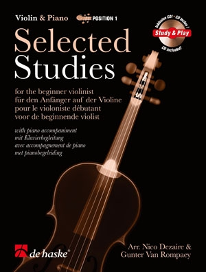 Selected Studies 1: Violin & Piano Book & 2 CDs (dezaire & Rompaey)