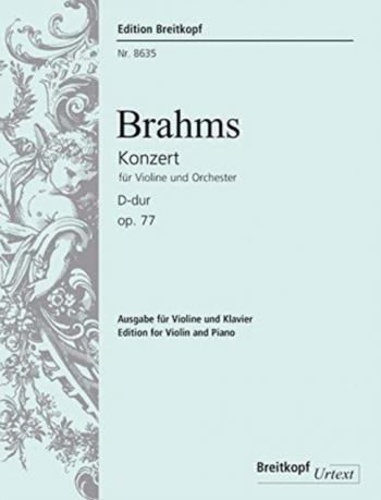 Violin Concerto D Major Op.77: Violin & Piano (Breitkopf)