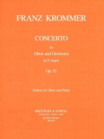 Concerto  F: Op 52 Oboe & Piano(Musica Rara)