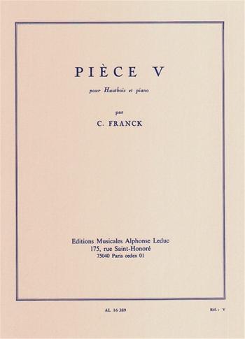 Piece V: Oboe & Piano (Leduc)
