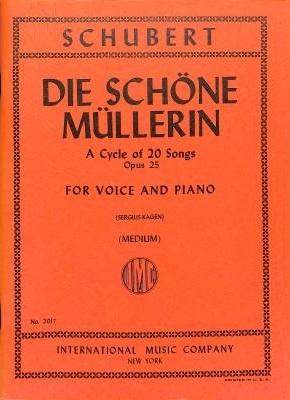 Die Schoene Muellerin: Op25: Med Voice and Piano