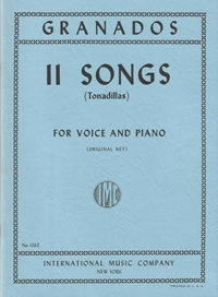 11 Songs: Original Key: Voice And Piano (Interntaional)
