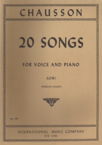20 Songs: Low Voice and Piano