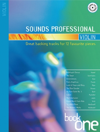 Sounds Professional: Book1: Violin: 12 Favourite Songs Book & Cd