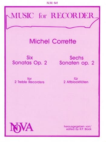 Six Sonatas Op2 :  Recorder Or Flute Duet