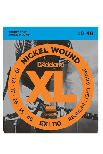 D'Addario Electric Guitar Exl110 Nickel Wound Regular Light 10-46