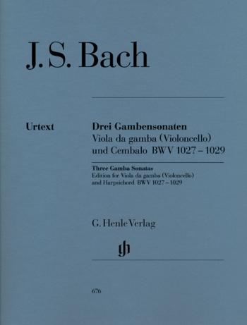 3 Sonatas: Bwv1027-1029: Viola De Gamba and Harpsichord (Henle)