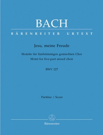 Jesu Meine Freude: Motet: 5 Part: Bwv227:  Mixed Voiced : Vocal Score