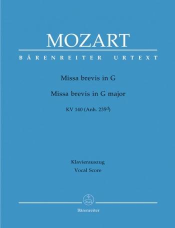 Missa Brevis In G : Kv140 : Vocal Score (Barenreiter)