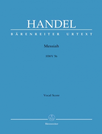 Messiah: HWV 56 Vocal Score (Urtext) (Barenreiter)
