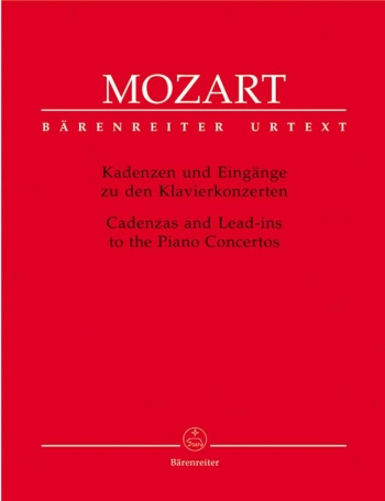 Cadenzas And Lead-Ins To Piano Concertos: Piano   (Barenreiter)
