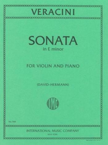 Sonata: E Minor: Violin and Piano