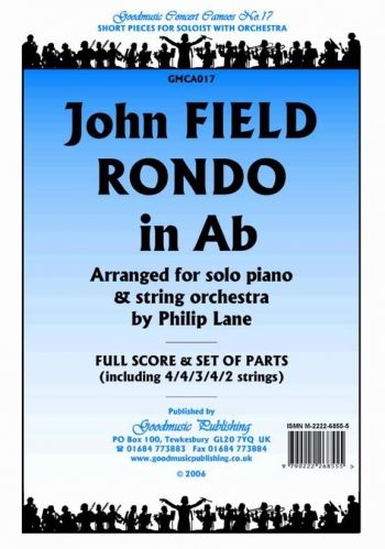 Orch: Field: Rondo In Ab: String Orchestra and Piano Solo: Scandpts  (lane)