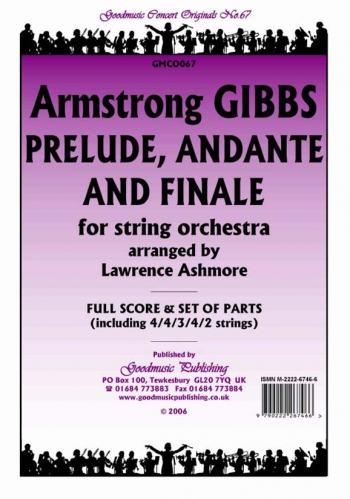 Orch: Gibbs: Prelude Andante And Finale: String Orchestra: Scandpts  (ashmore)