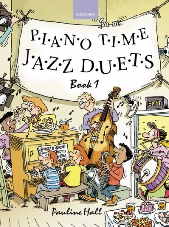 Piano Time Jazz Duets Book 1  (Pauline Hall) (Oxford University Press)
