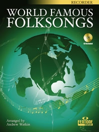 World Famous Folksongs: Recorder: Bk&cd