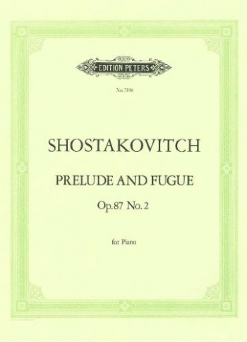 Prelude and Fugue Op.87 No.2: Piano (Peters)
